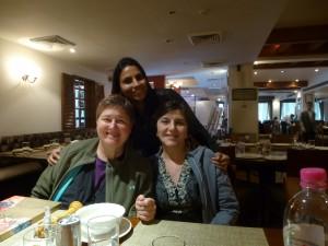 Varsha with Lisa & Halina