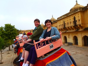 Lisa & Halina on the Elephant Ride
