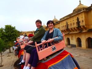 Lisa & Halina on the Elephant Ride